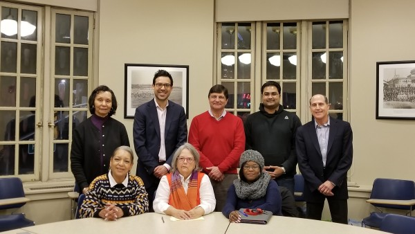 Atlantic City Community Fund Board of Advisors (left to right) seated: Sheila Hull-Freeman, Joyce Hagen, Tina Watson; standing: Libbie Wills, Evan Sanchez, James M. Rutala, Maharshi Patel, Benjamin Zeltner, Esq. (not pictured: Derek K. Cason)